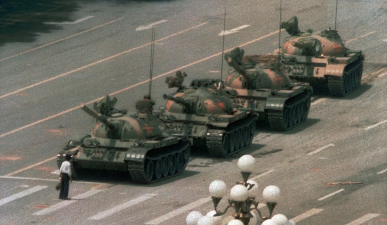 """Tank Man"", one of the iconic photographs to emerge from China's crackdown in Tiananmen Square in June 1989. Photo: AP"