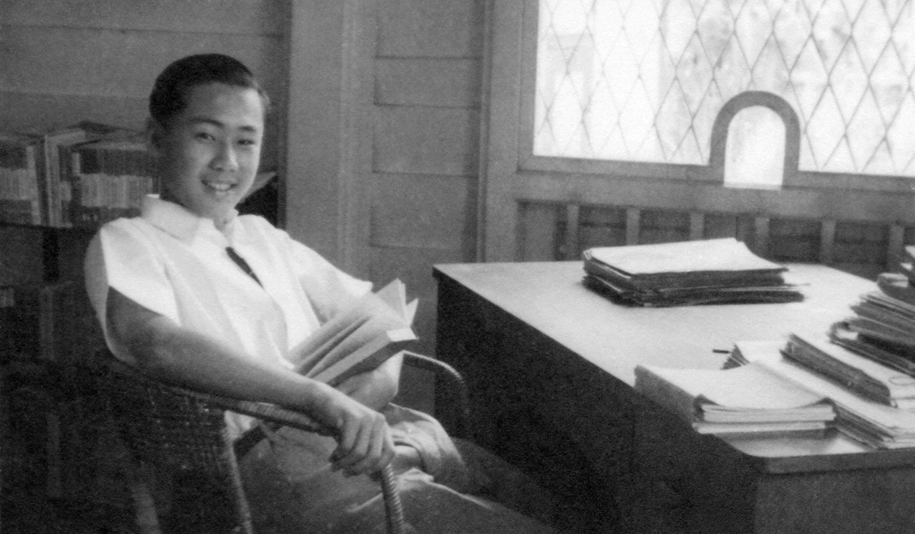 Wang Gungwu as a teenager in Ipoh, Malaya, in 1947 before he set off for Nanjing and passed through Hong Kong on a voyage to Shanghai. Photo: Handout