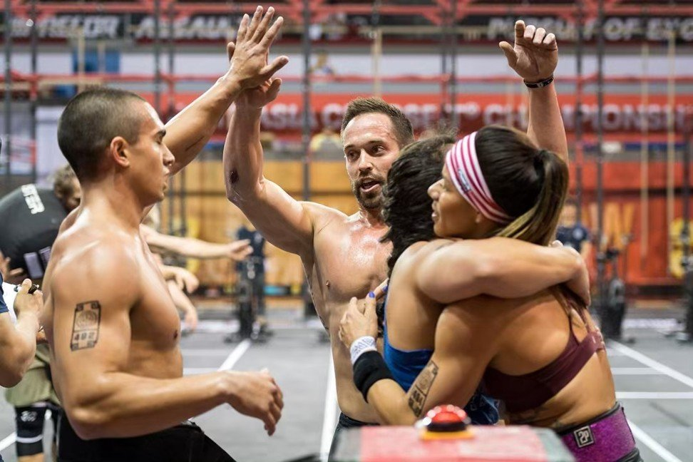 Mayhem Freedom celebrate after winning the last event of the Asia CrossFit Championship and booking their ticket to the CrossFit Games. Photo: Asia CrossFit Championship