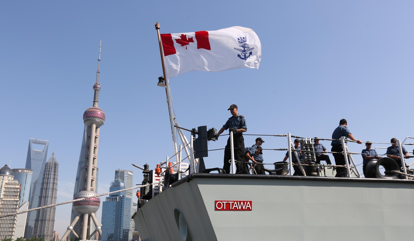 Canada sails warship through Taiwan Strait for second time in three months