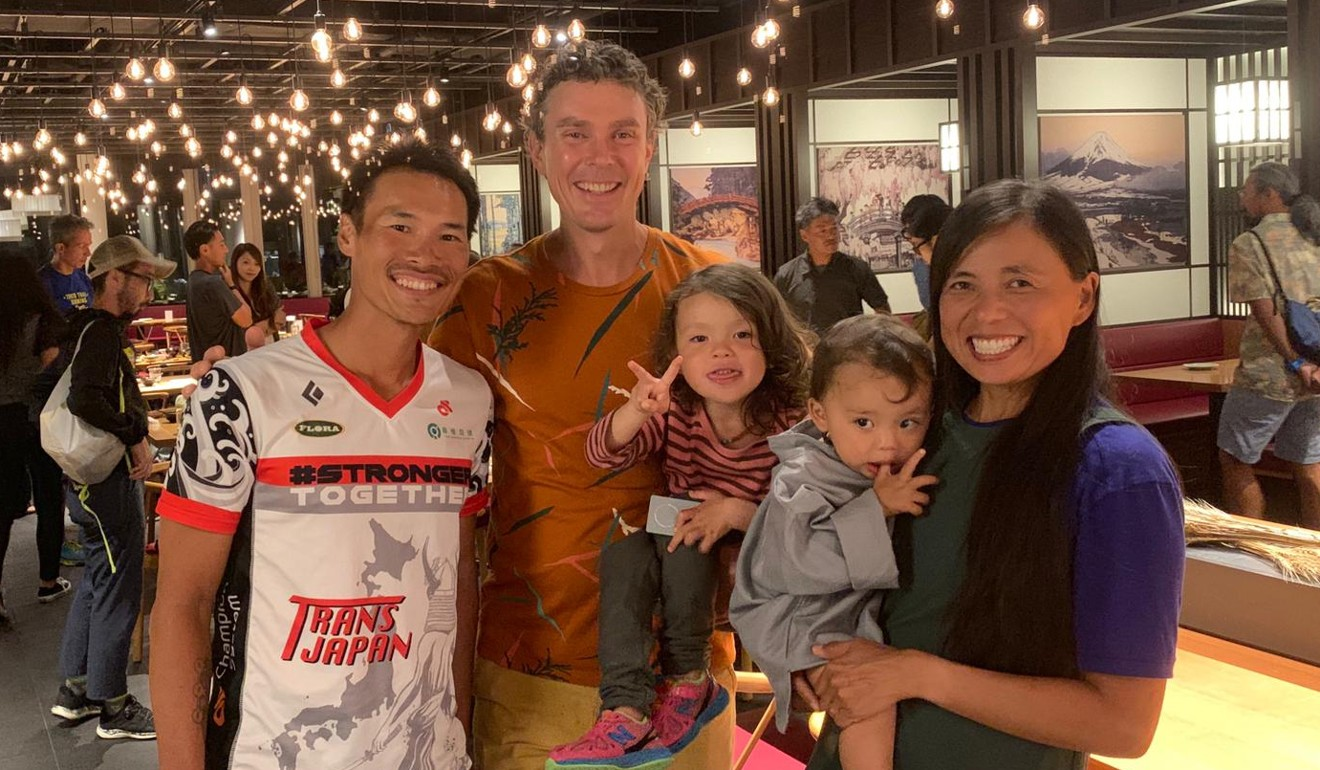 Wong Ho-fai meets Scott Jurek and his family as a result of an injury. Photo: Handout