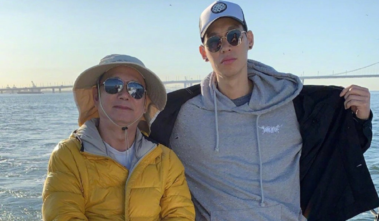 Gone fishing: Jeremy Lin shows off his catch as he sends Mid-Autumn Festival greetings to fans
