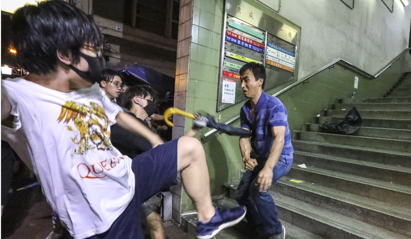 There were a number of brawls in North Point on Sunday evening. Photo: Felix Wong