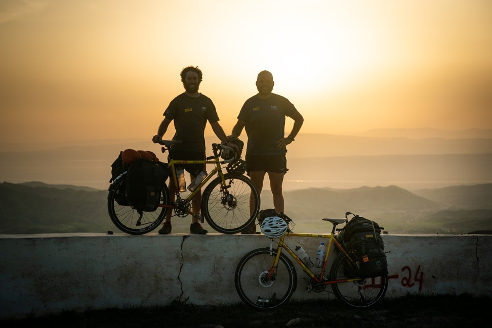 James Owens and Ron Rutland in Tajikistan – seeing amazing sunsets was part of the shared experience Rutland lacked in Africa.
