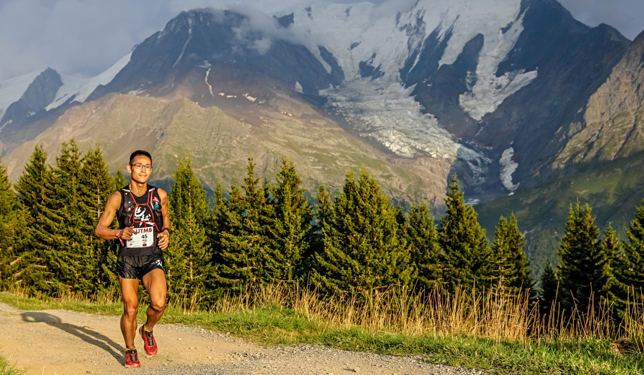 Jiang Jing blames his new sunglasses for changing his psychological state. Photo: UTMB