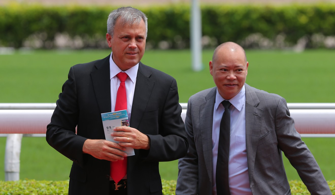 Hong Kong trainers Caspar Fownes and Chris So.