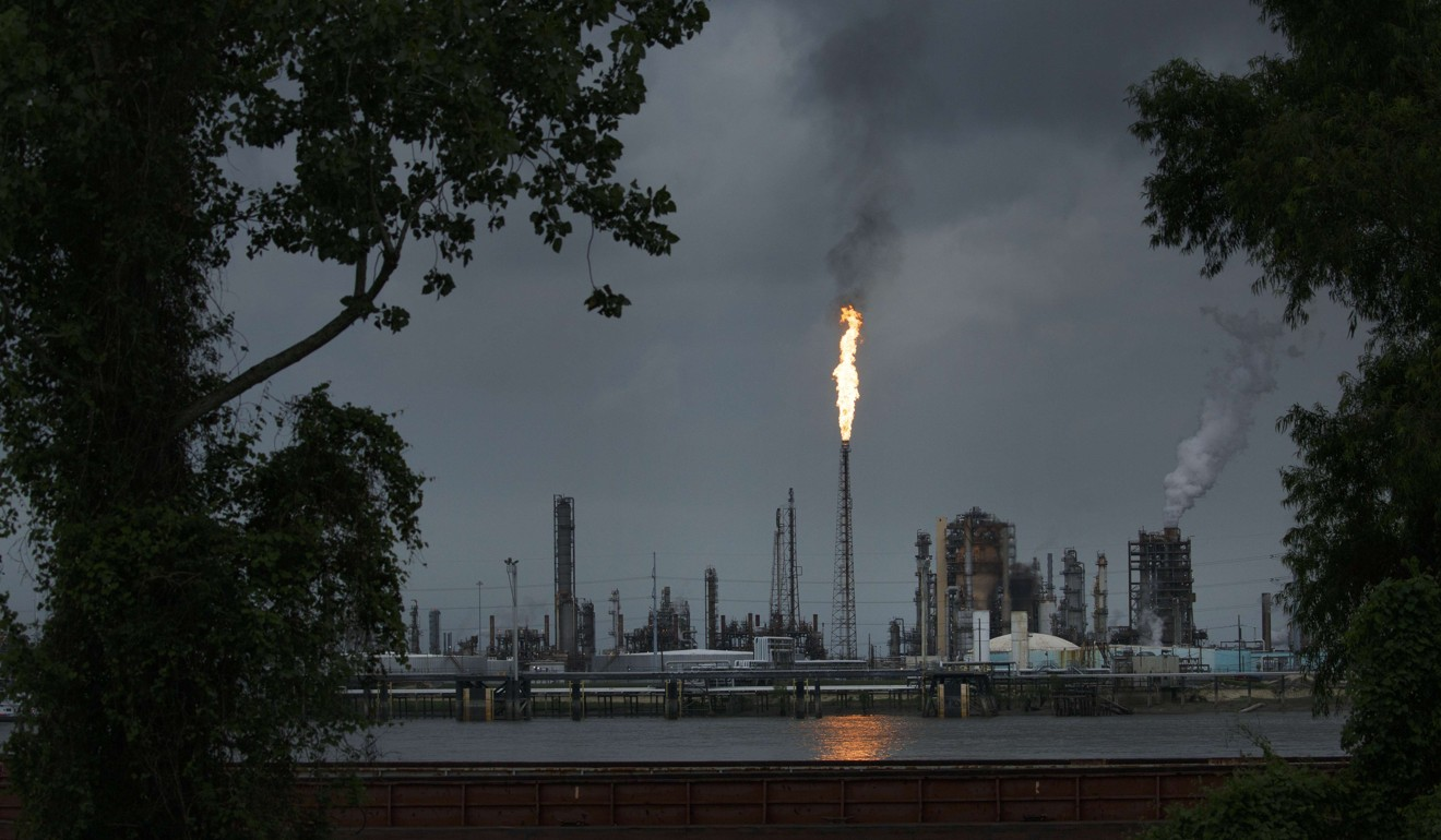 The state of Louisiana is home to a large number of petrochemical plants. Pictured is a refinery in the town of Norco. Photo: Getty Images/AFP