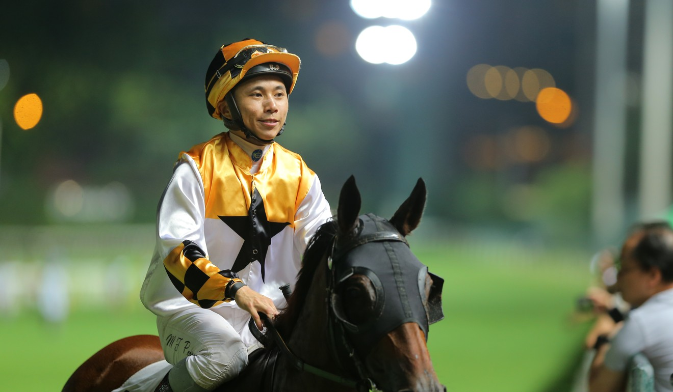 Matthew Poon is one of four suspended jockeys to benefit from the cancellation of Wednesday's meeting.