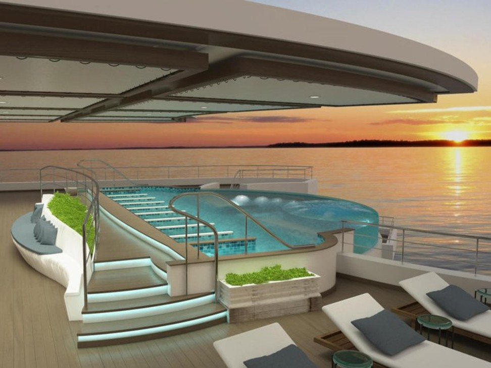 For US$3.1 million, you could own a 2-room apartment aboard this luxury cruise ship designed as a 'wellness community on water'