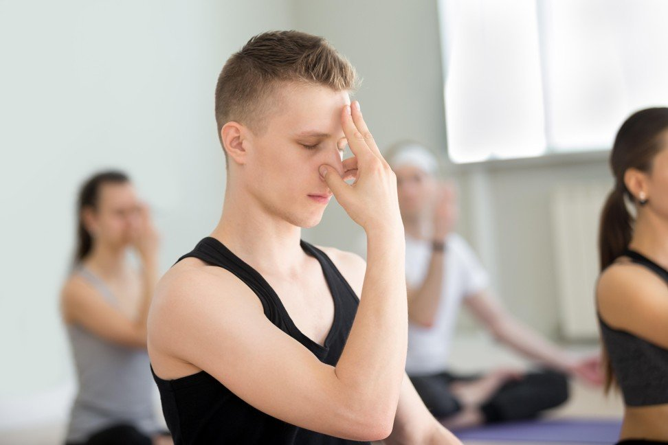 Alternate nostril breathing is an easy way to start breath exercises. Photo: Alamy