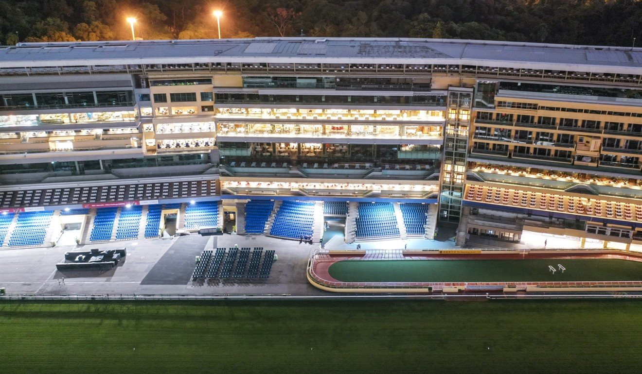 An empty Happy Valley racecourse. Photo: Martin Chan