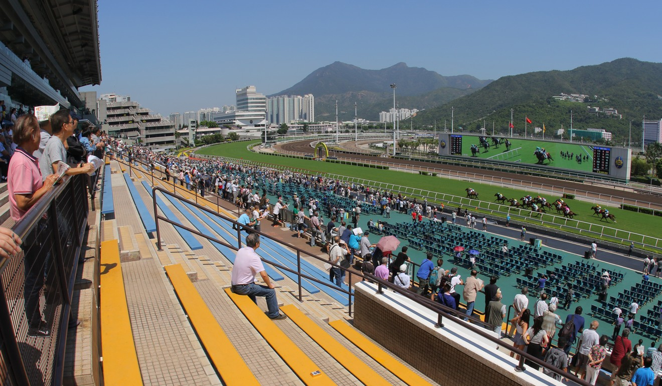 A largely empty stand at Sha Tin on Saturday. Photo: Kenneth Chan