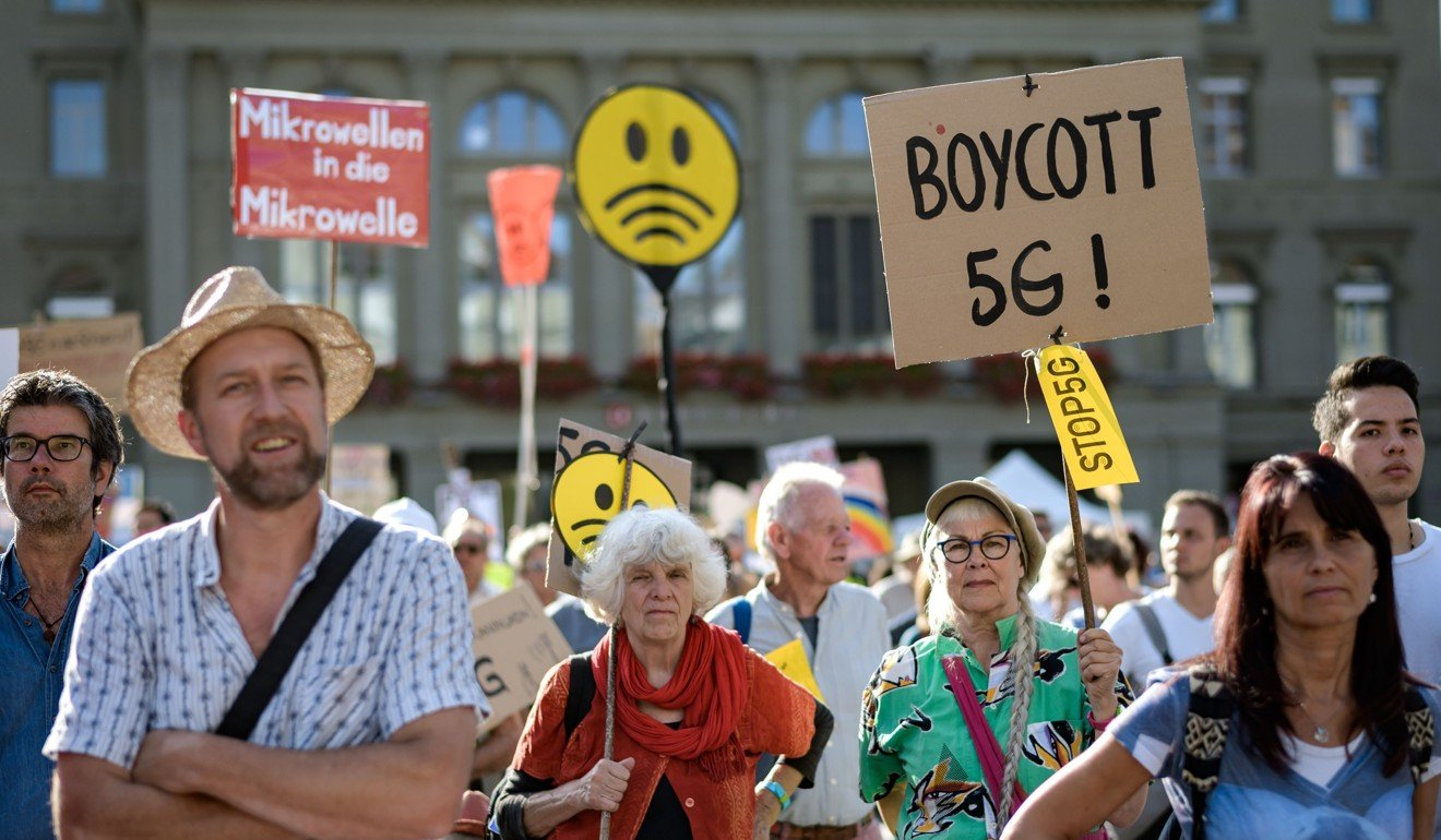 5G health fears? Thousands of protesters take to the streets in Swiss capital to protest high-speed wireless roll-out