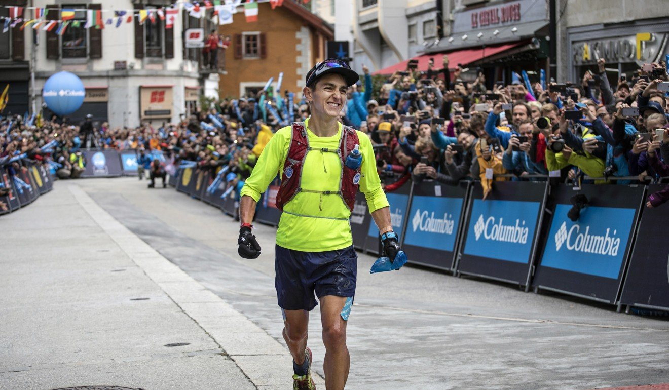 Xavier Thevenard wins the 2018 UTMB, his first race after media scrutiny over a DQ from Hardrock. Photo: Laurent Cipriani