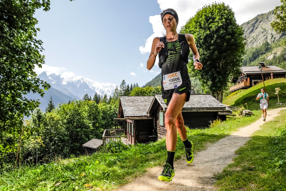 Ruth Croft on her way to winning the OCC, UTMB by 'doing the basics', like any good centre should. Photo: UTMB