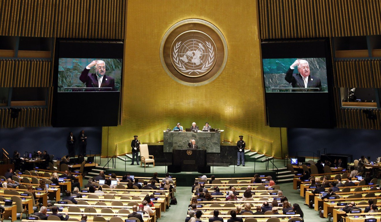 US policy on Israel is pushing Palestinians to 'lose hope' in peace process, Abbas tells UN