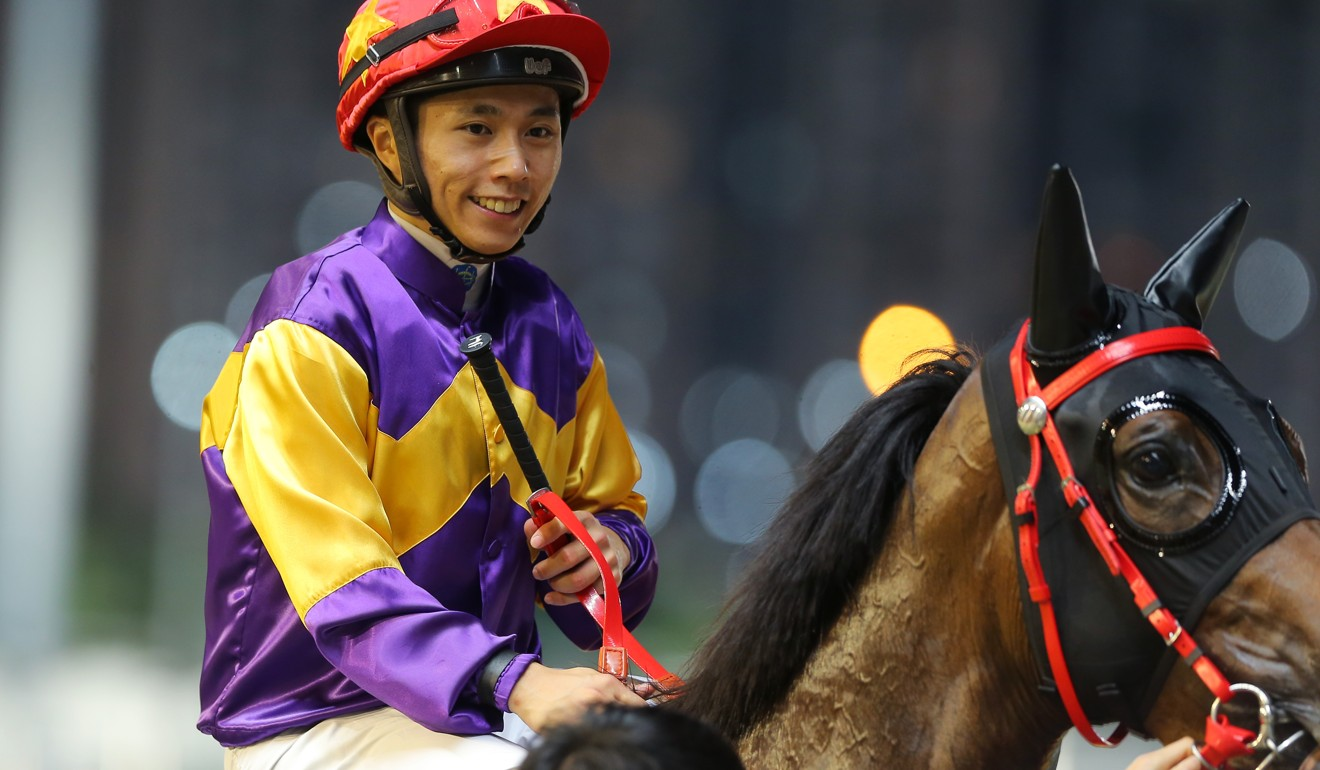 Matthew Poon celebrates a winner at Happy Valley earlier this year. Photo: Kenneth Chan