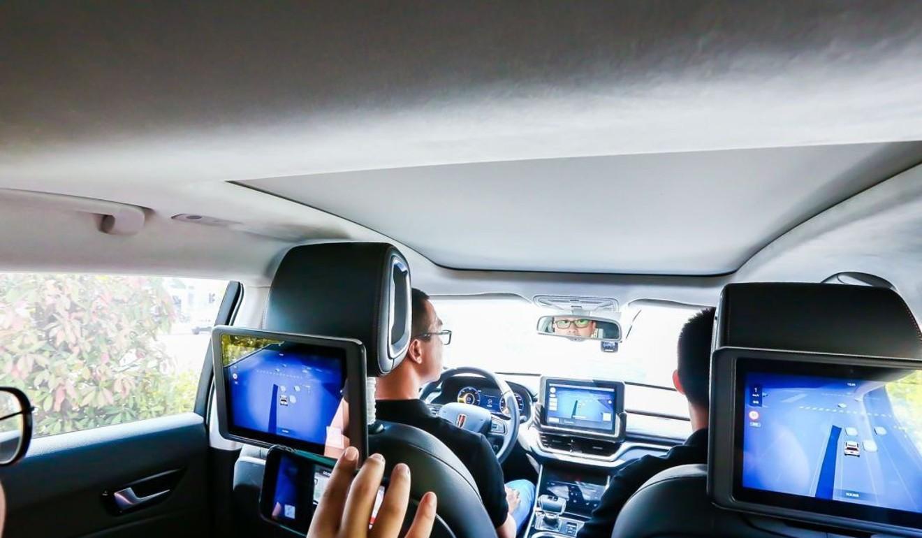 Robotertaxi von Baidu in Changsha