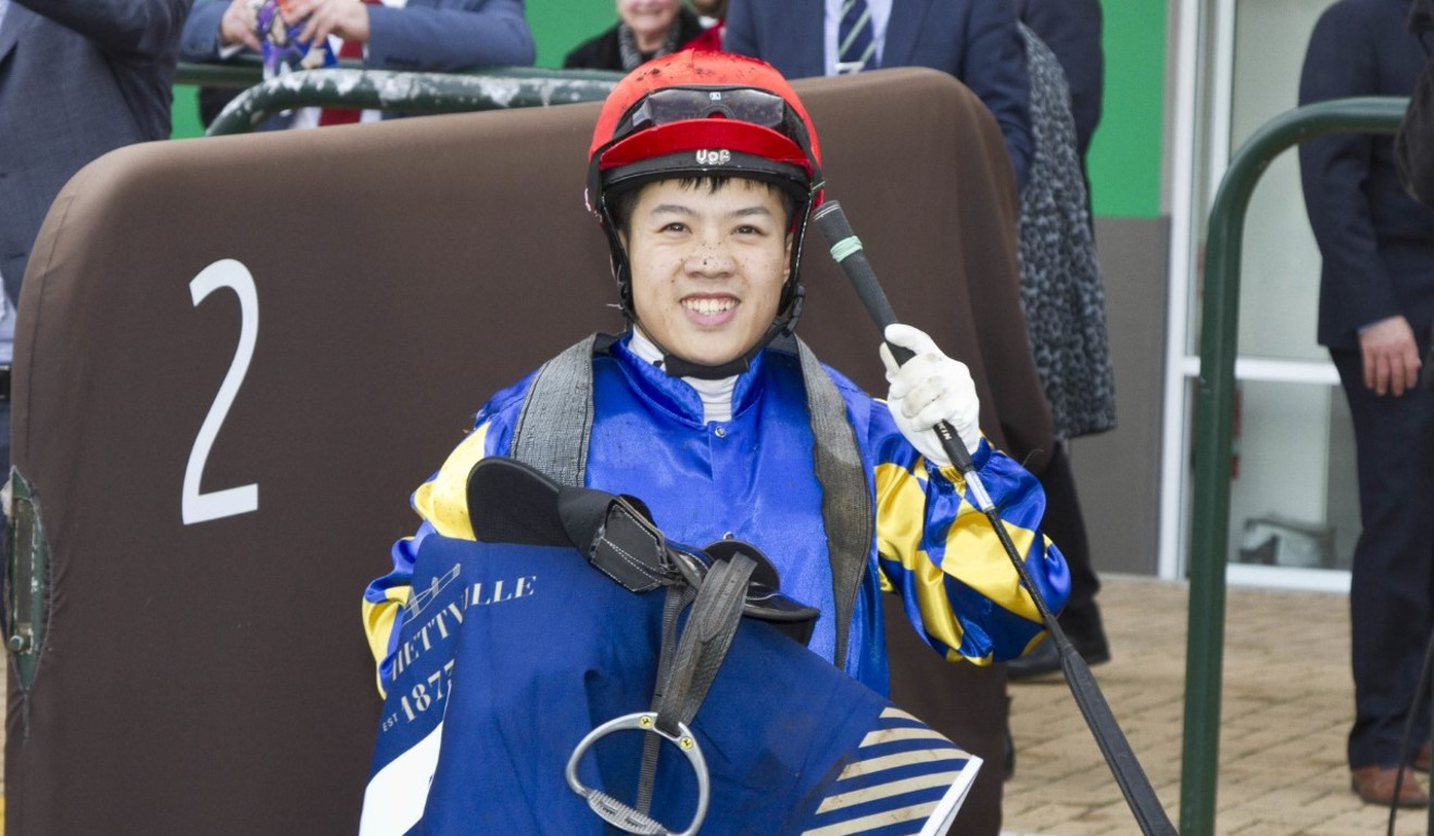 Kenny Lau is all smiles after landing a winner at Morphettville in June.