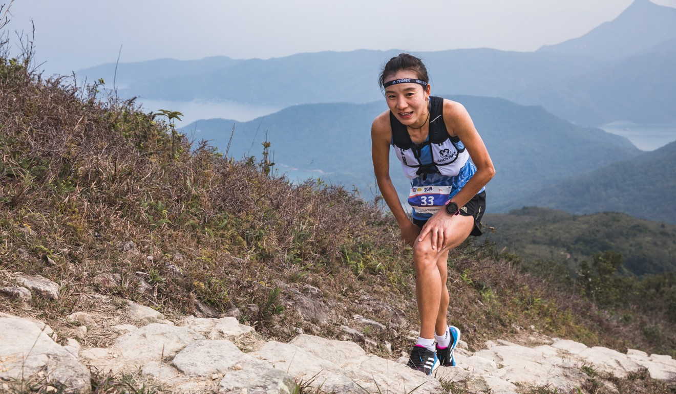 Lu Yangchun on her way to winning the HK100 – her legs remember the mountains of Yunnan where she spent her childhood. Photo: Adidas Terrex