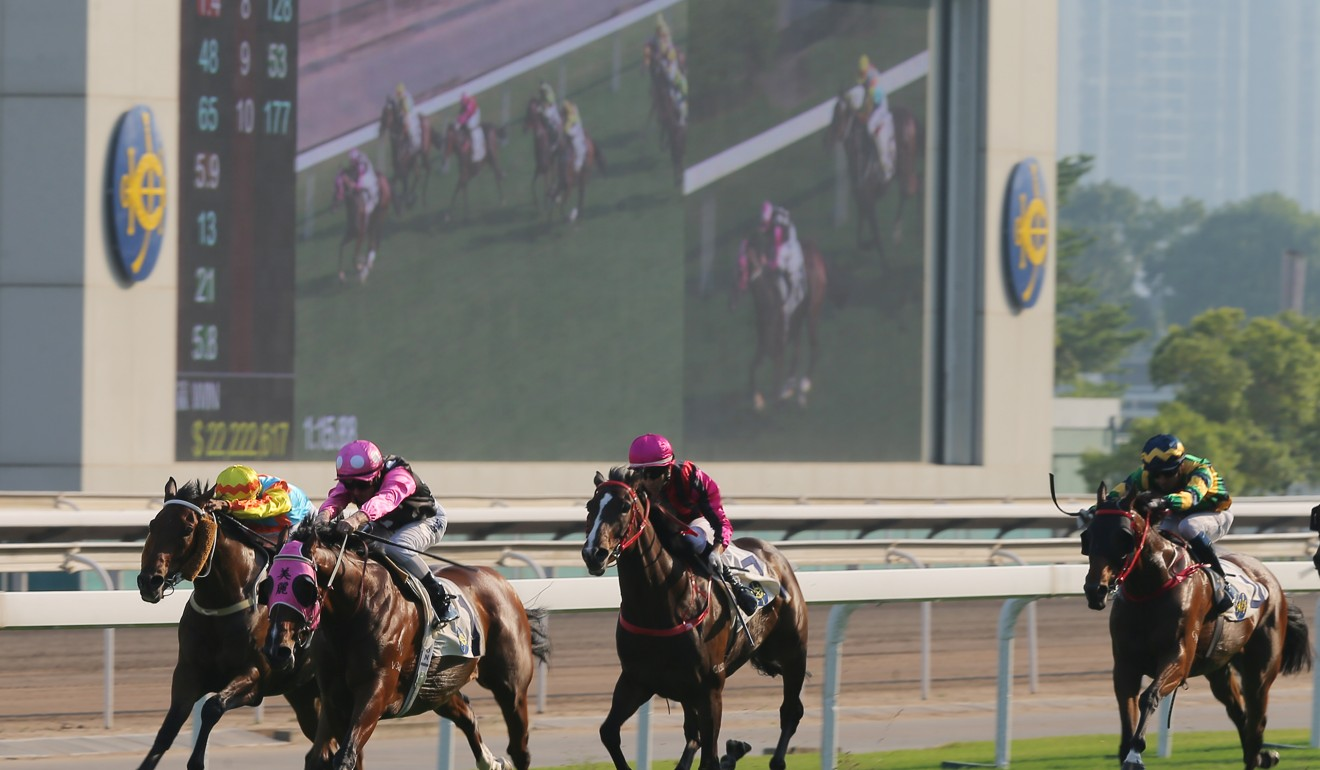 Beauty Generation runs away with the Group Three Celebration Cup (1,400m) on Tuesday.