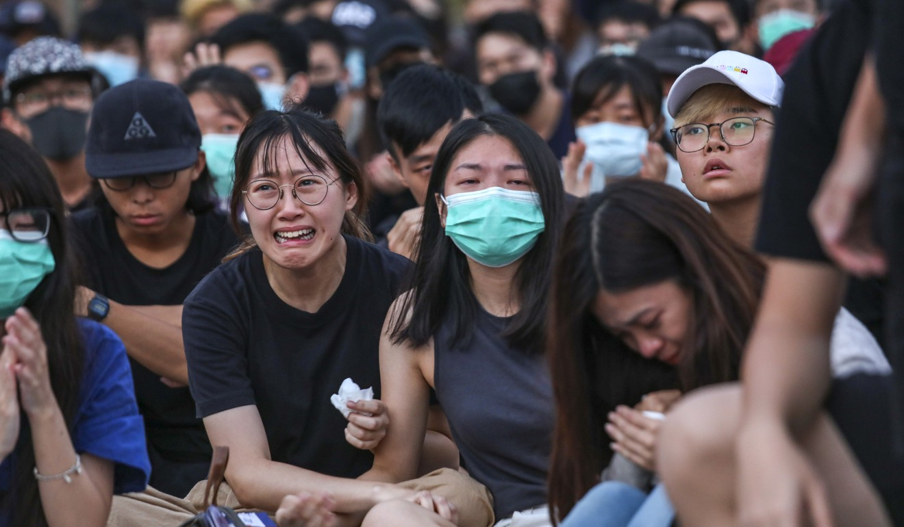 Hong Kong protest crisis extends to schools with student actions at Chinese University, Mong Kok secondary school and college attended by shooting victim