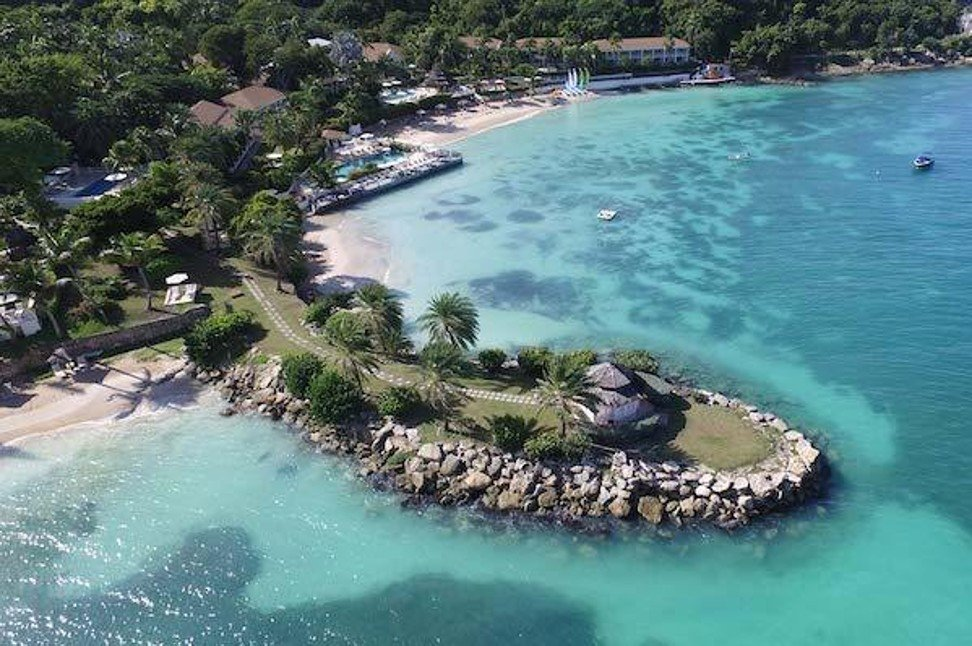 Blue Waters located on Soldier Bay in Antigua is ideal for a secluded getaway.