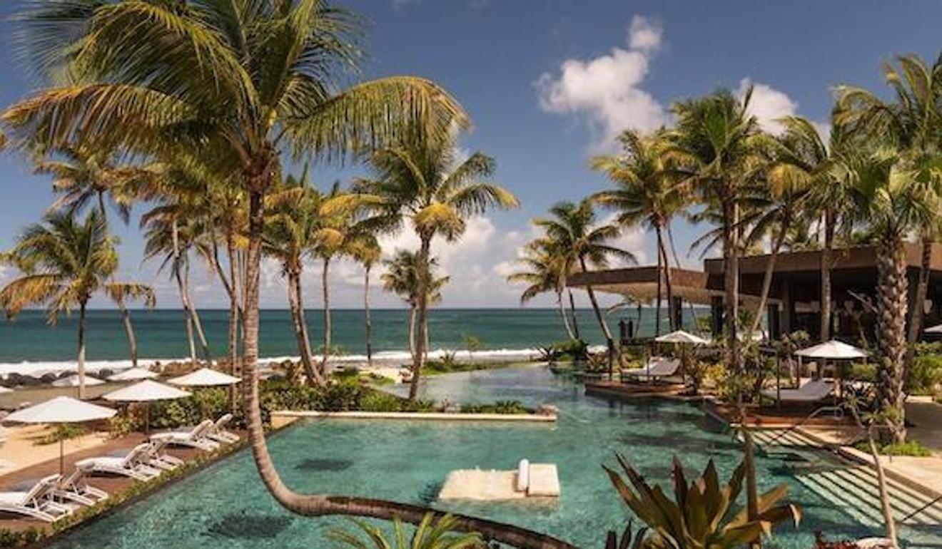 The Ritz-Carlton Dorado Beach rooms have outdoor showers and open-air living rooms.