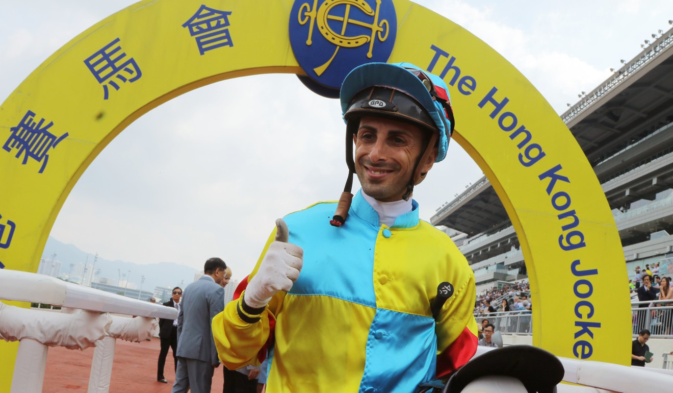 Jockey Alberto Sanna rides four horses for Douglas Whyte on Sunday.