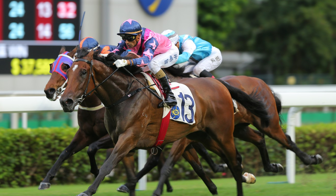 Chicken Dance lets down to win easily at Sha Tin on Sunday.