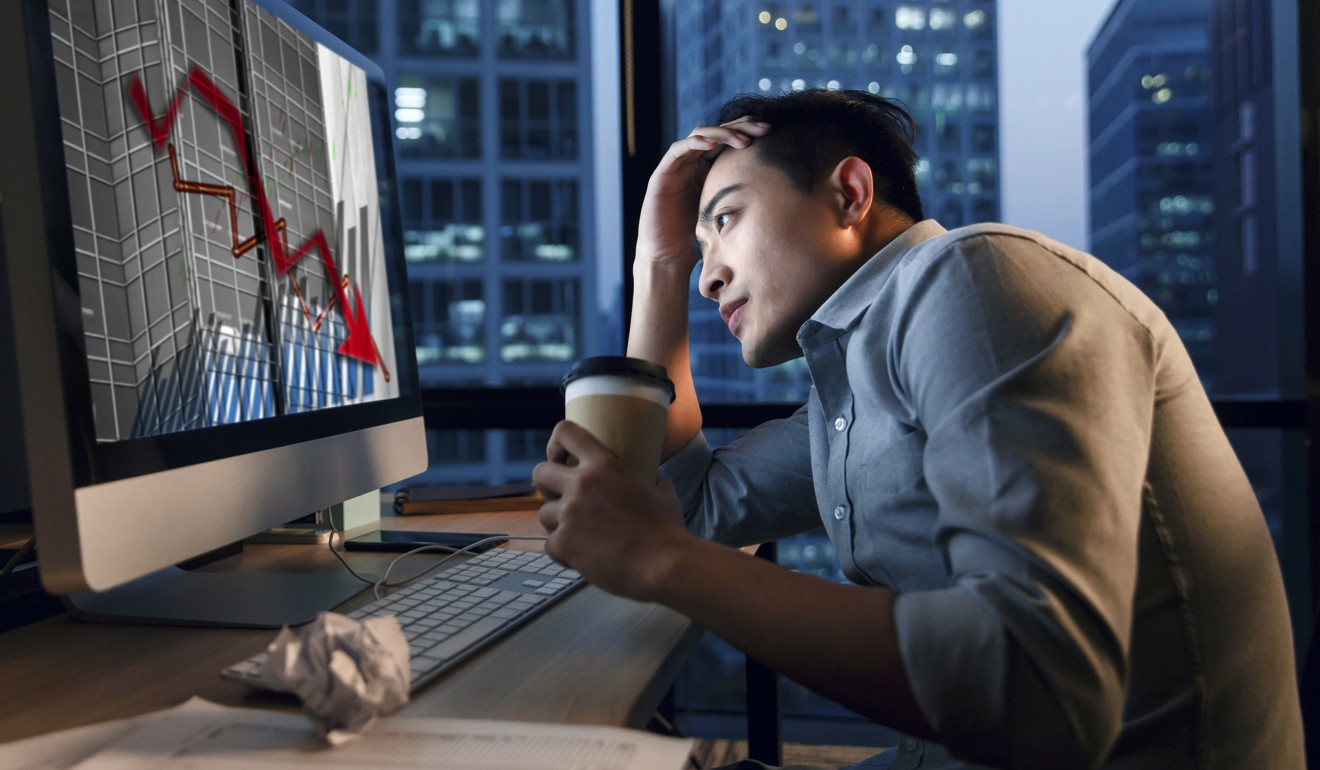 Feeling overwhelmed at work creates anxiety for many men. Photo: Alamy