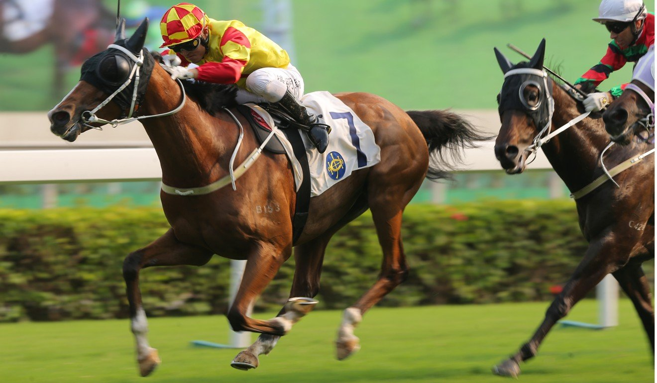 Savvy Six surges to victory at Sha Tin on Saturday.