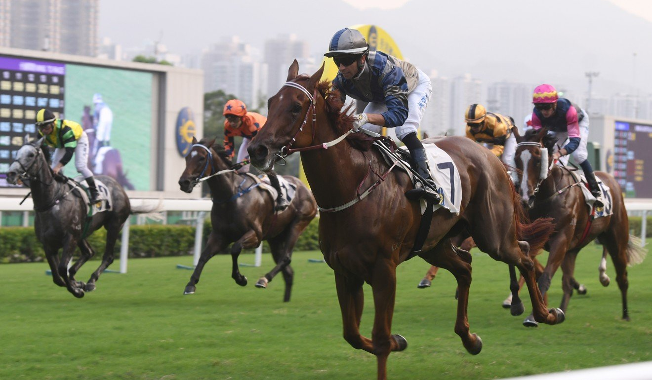 Aethero wins at Sha Tin on Saturday.
