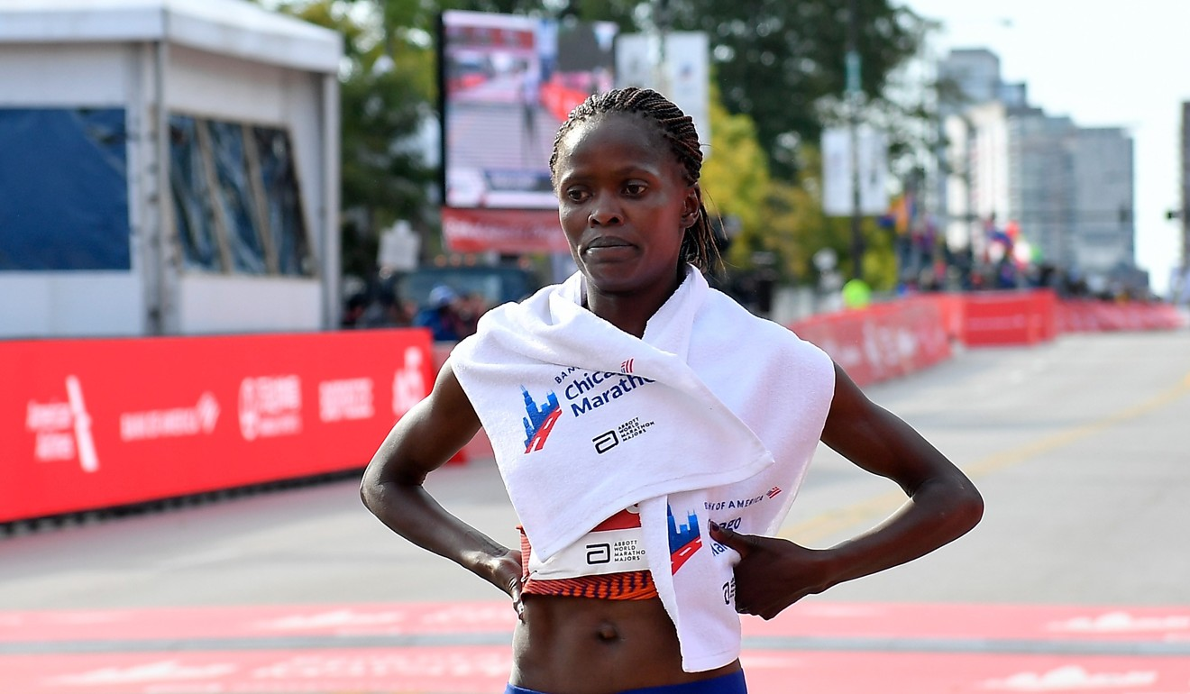 Kosgei says for a woman to break the 2:10 barrier, they must be 'focused in everything'. Photo: AFP