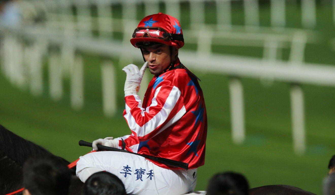 Umberto Rispoli rides a winner at Happy Valley last season.