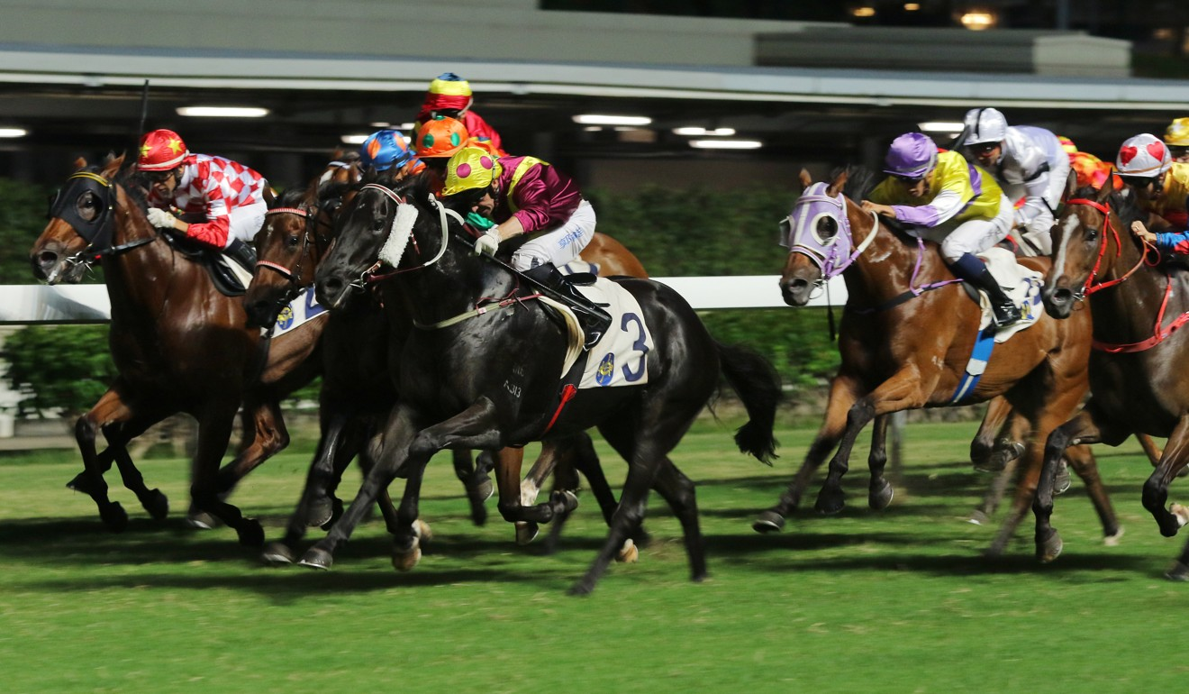 Neil Callan punches out Happy Warrior at Happy Valley on Wednesday night.