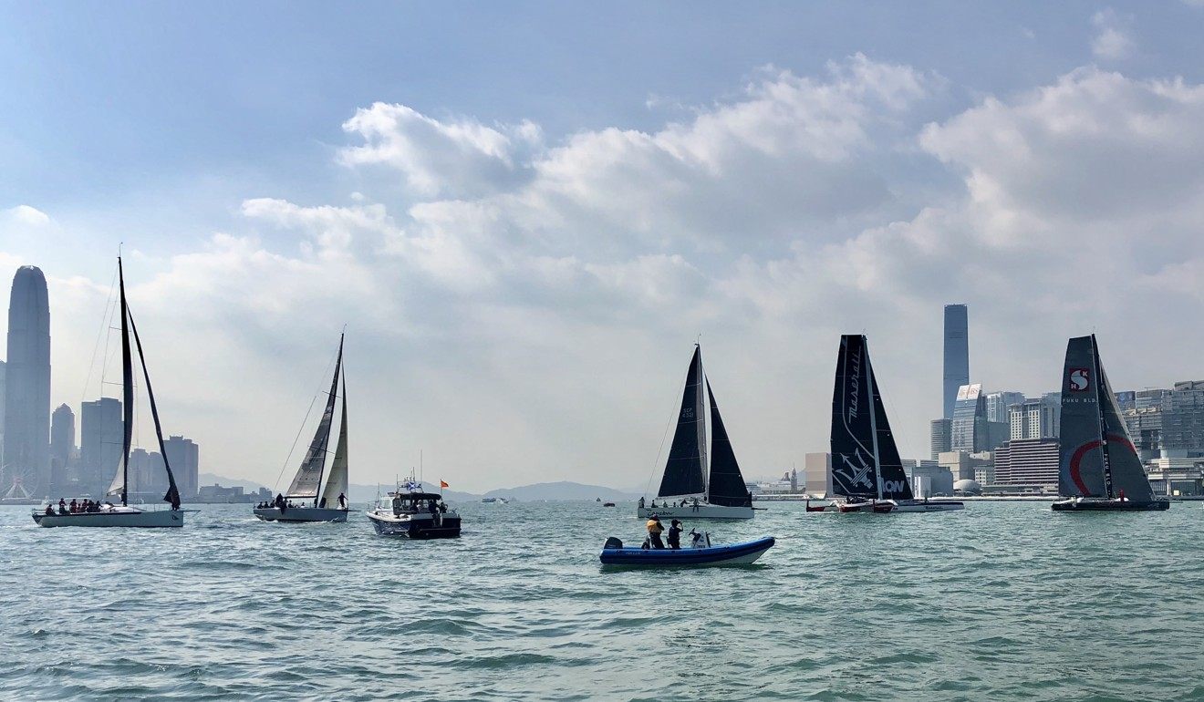 Nine boats prepare for the start of the Hong Kong-Nha Trang Rally, a hidden gem amoung offshore race. Panda Man/Takumi Photography