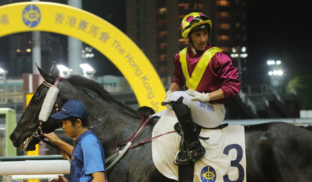 Neil Callan discusses the win of Happy Warrior at Happy Valley on Wednesday night.