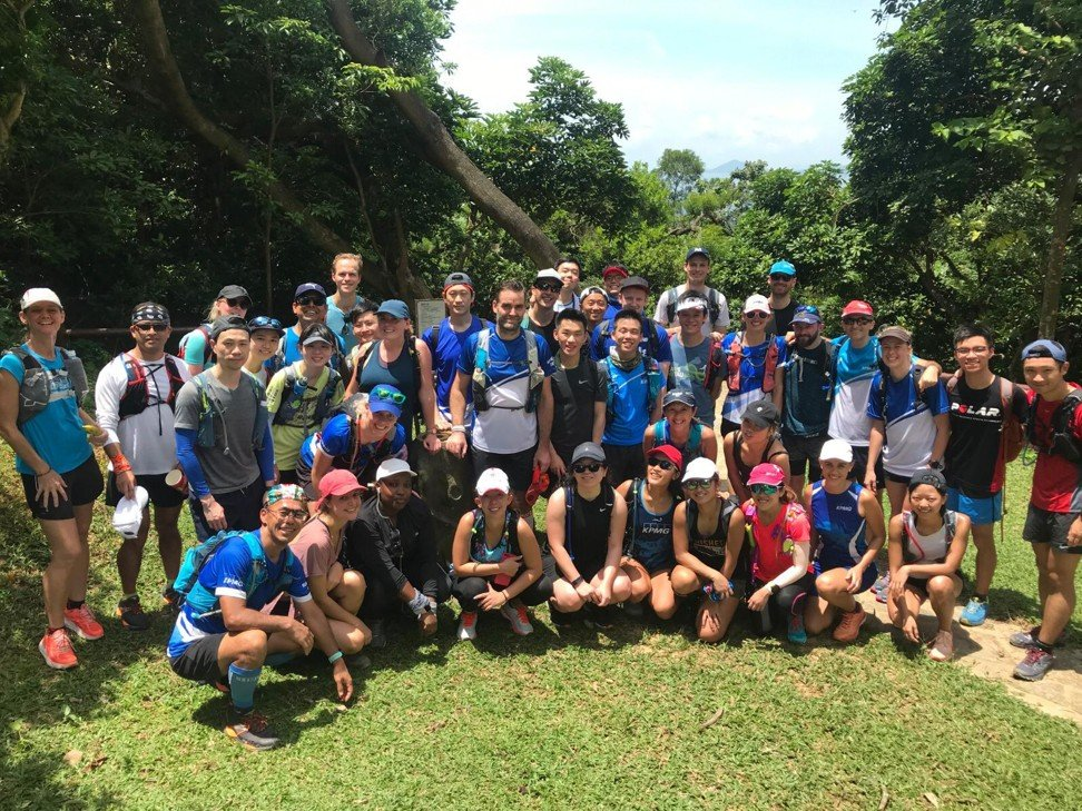 KPMG hiking group, training and taking part in events breaks down barriers and builds relationships.
