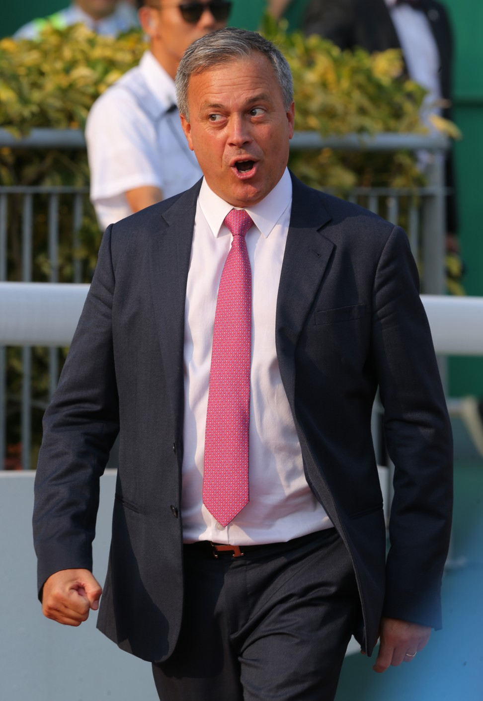 Caspar Fownes following the win of Rise High at Sha Tin on Sunday.