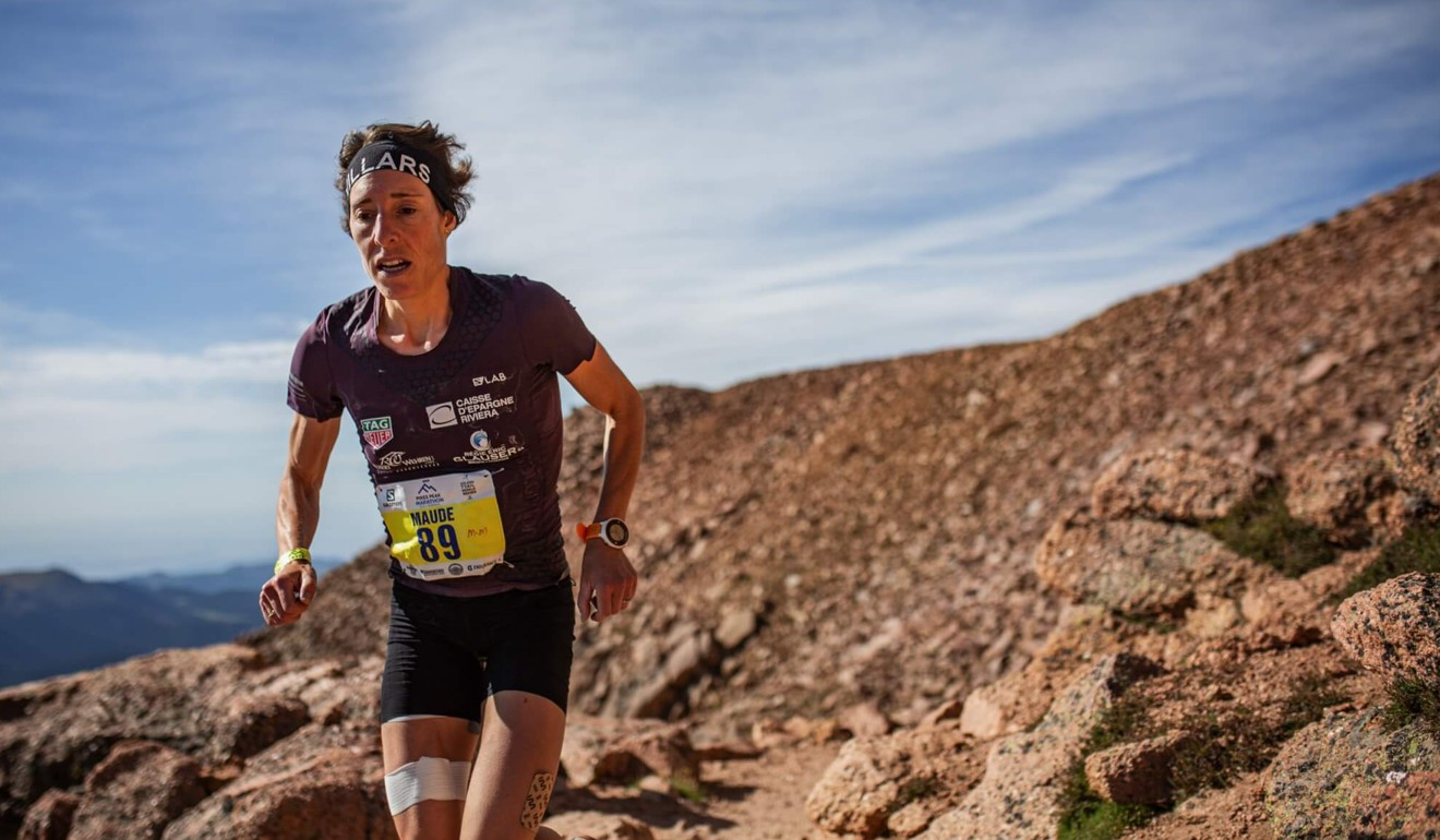 Maude Mathys sets the record on the Pikes Peak Marathon. Photo: Philipp Reiter