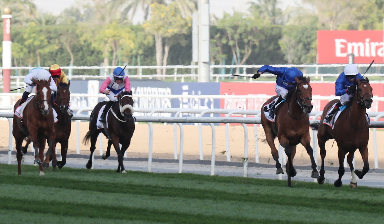 Cross Counter (second from right) wins the Dubai Gold Cup.