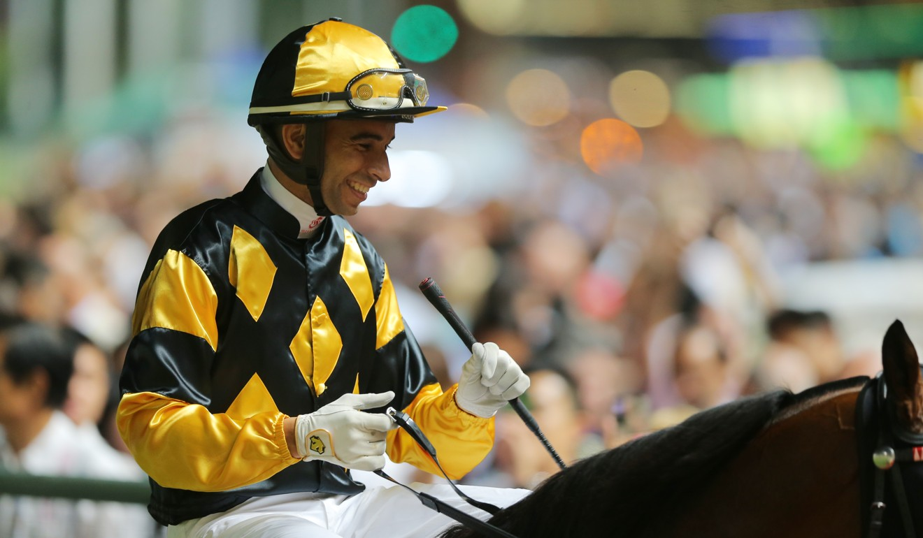 Joao Moreira celebrates a recent winner at Happy Valley.