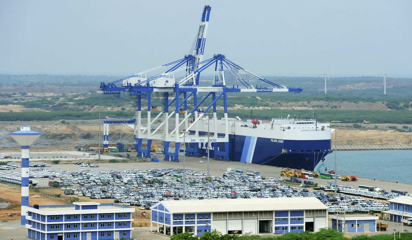 The Hambantota port facility, which has been handed over to Beijing on a 99-year lease. Photo: AFP