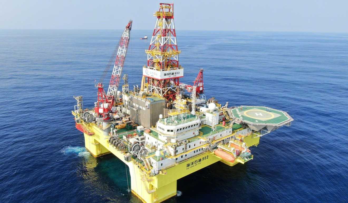 A Chinese deepwater oil rig in the South China Sea. Photo: Weibo