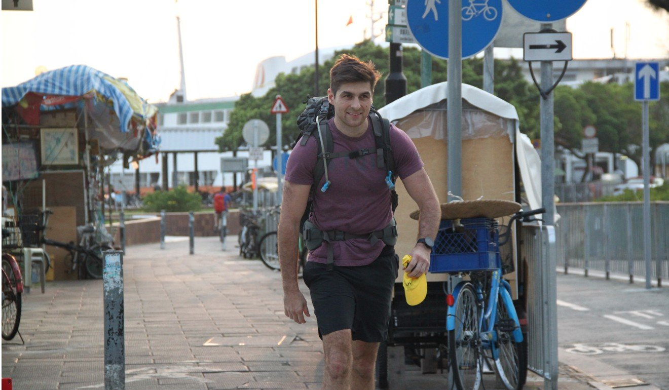 James Somers Eve sets off on the LT70 carrying 45kg on his back, one for every kilogram his father lost to cancer.