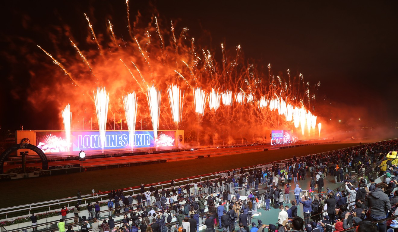 Fireworks after last year's Hong Kong International Races.