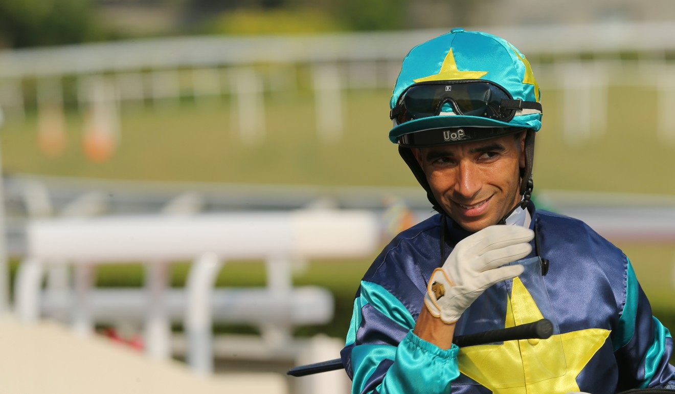 Joao Moreira after winning at Sha Tin on Sunday.