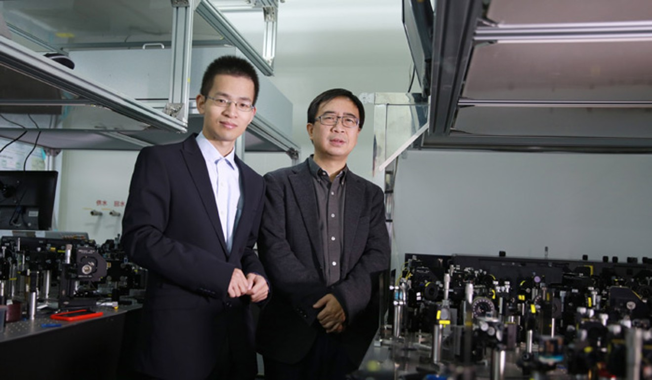 Pan Jianwei (right) and Lu Chaoyang, two leading scientists in China's quantum computing industry. Photo: Handout