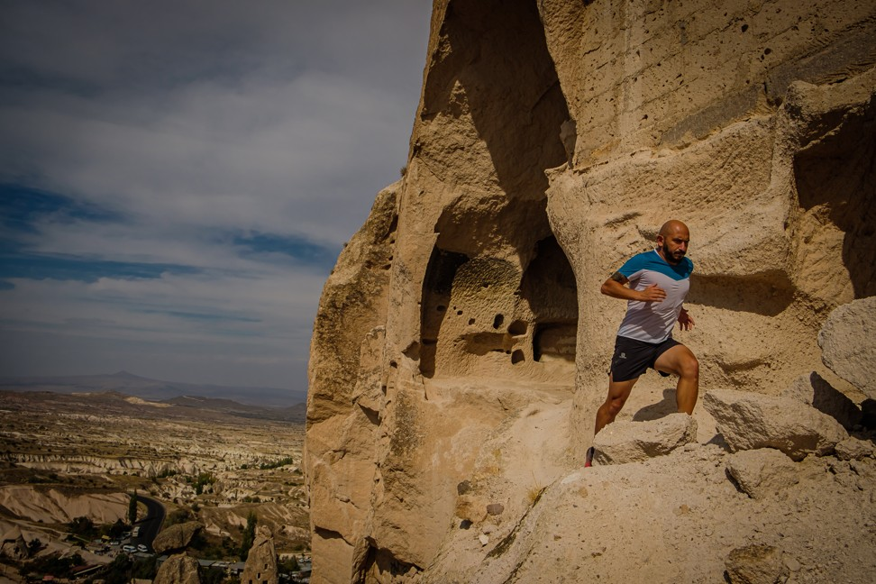Fatih Topcu pushes himself on the Cappadocia Ultra Trail.